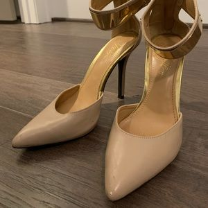 Gold accented heels